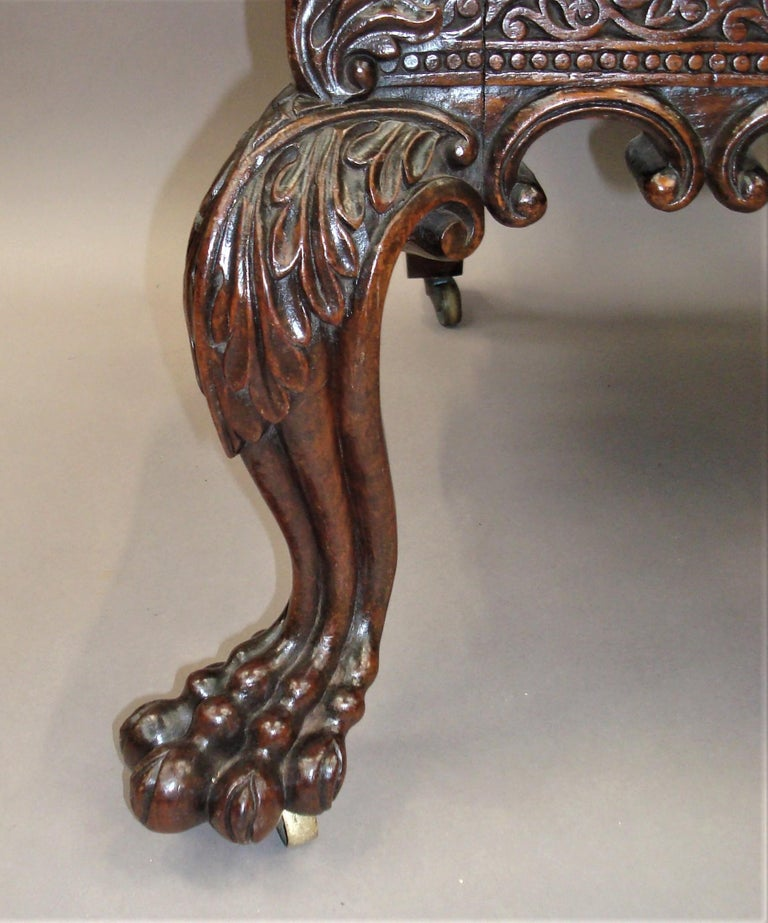 19th Century Anglo Indian Carved Padouk Side Chair For Sale 3