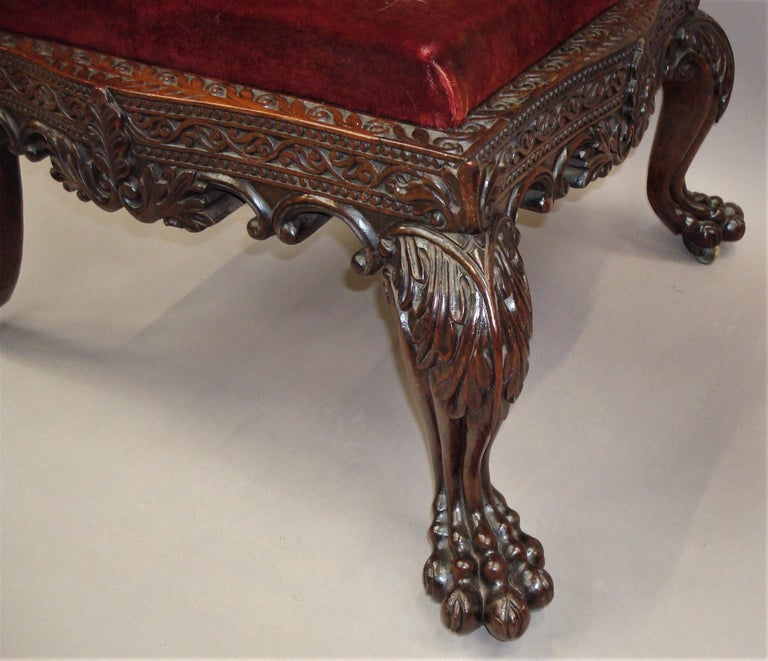19th Century Anglo Indian Carved Padouk Side Chair For Sale 4