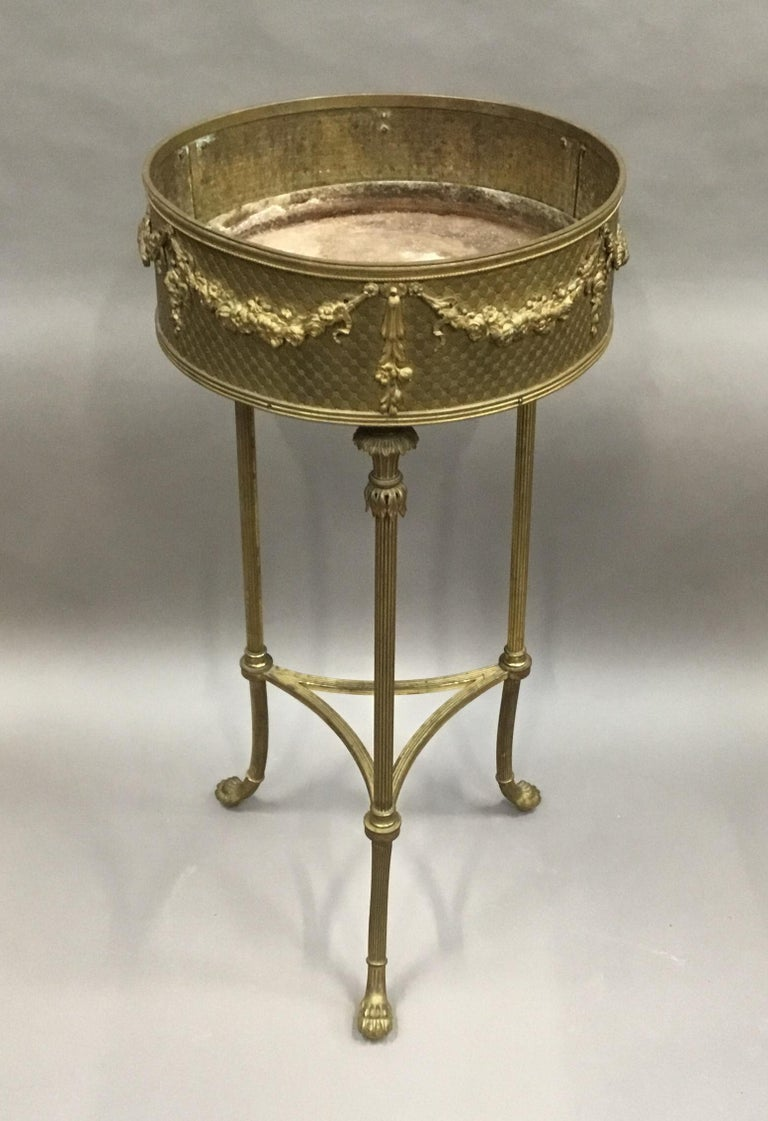 19th Century French Gilt Brass Jardinière For Sale 10
