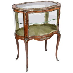 19th Century French Louis XVI Style free standing display cabinet.