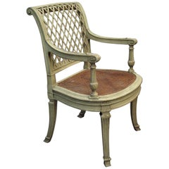 19th Century French Painted Open Armchair