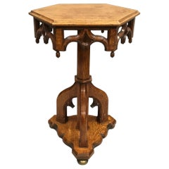 19th Century Gothic Oak Occasional Table