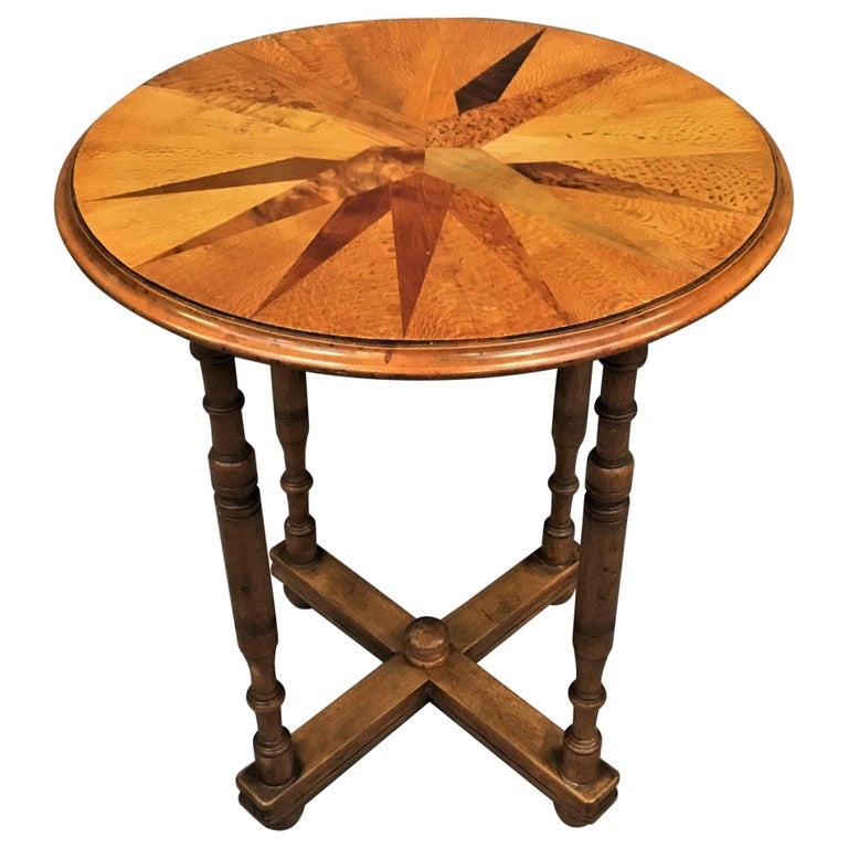 19th Century New Zealand Specimen Wood Table For Sale
