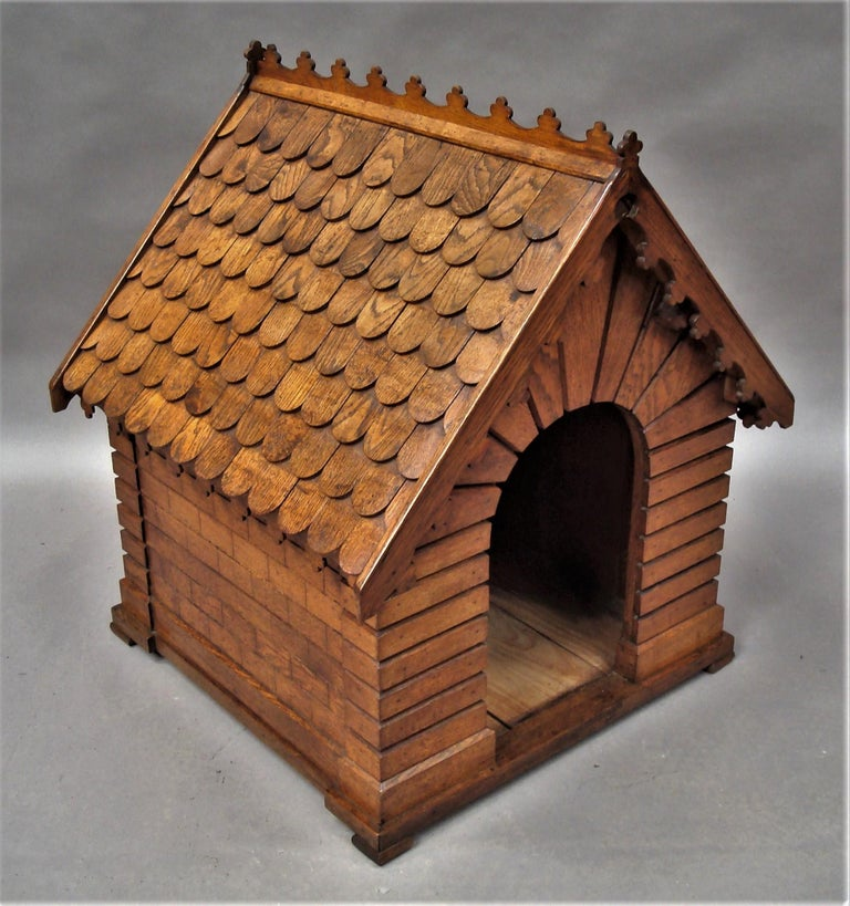 19th Century Oak Dog House or Dog Kennel For Sale 5
