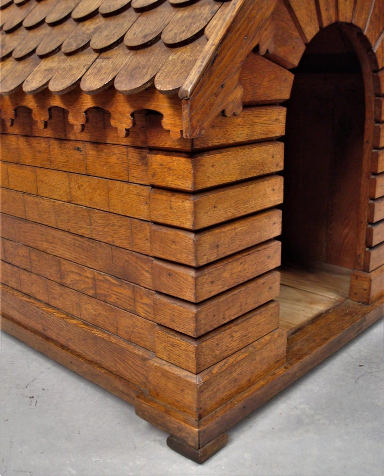 19th Century Oak Dog House or Dog Kennel For Sale 7