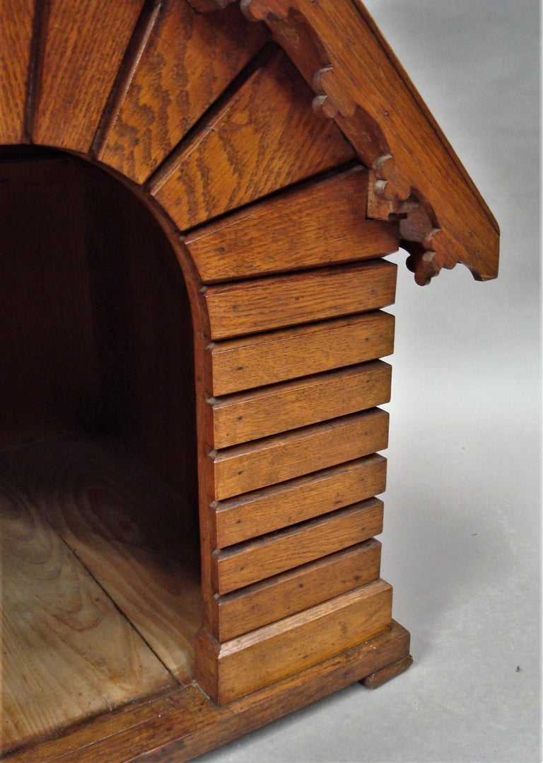 19th Century Oak Dog House or Dog Kennel For Sale 9