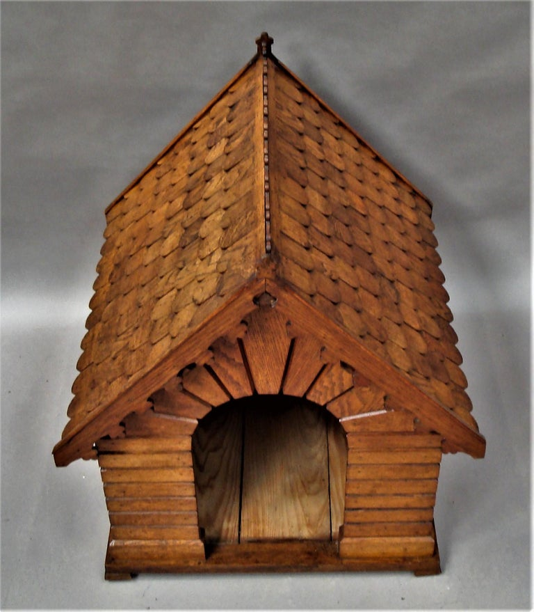 19th Century Oak Dog House or Dog Kennel For Sale 13