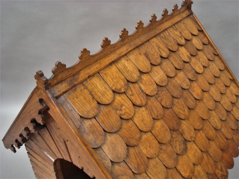 19th Century Oak Dog House or Dog Kennel For Sale 14