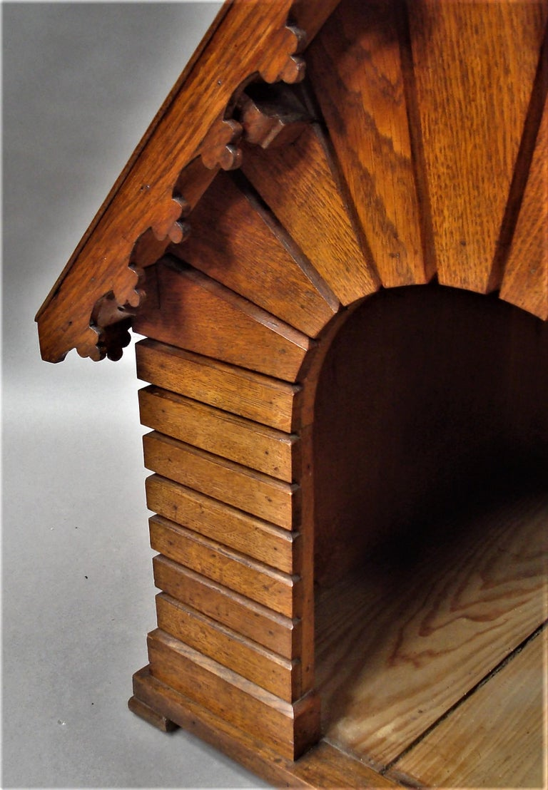 19th Century Oak Dog House or Dog Kennel For Sale 15