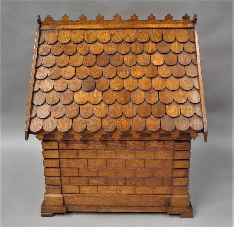 Polished 19th Century Oak Dog House or Dog Kennel For Sale