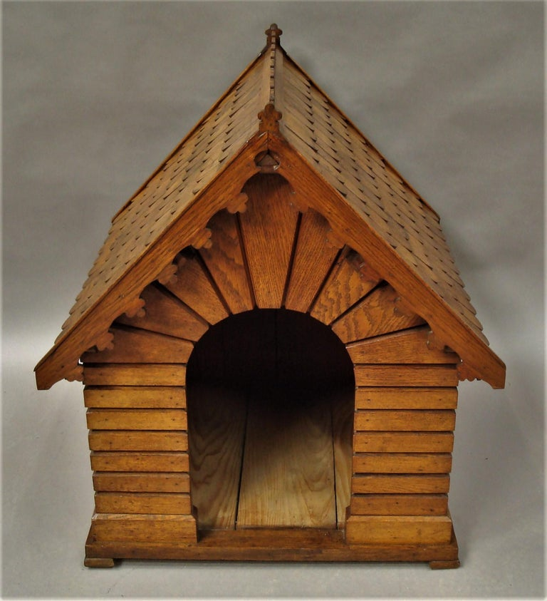 19th Century Oak Dog House or Dog Kennel For Sale 1