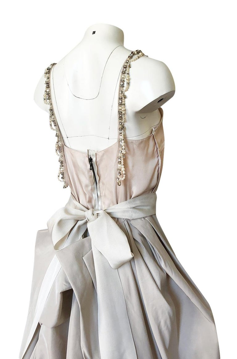 c.2012 Alber Elbaz for Lanvin Special Blanche Nude Blush Silk Wedding Gown For Sale 6