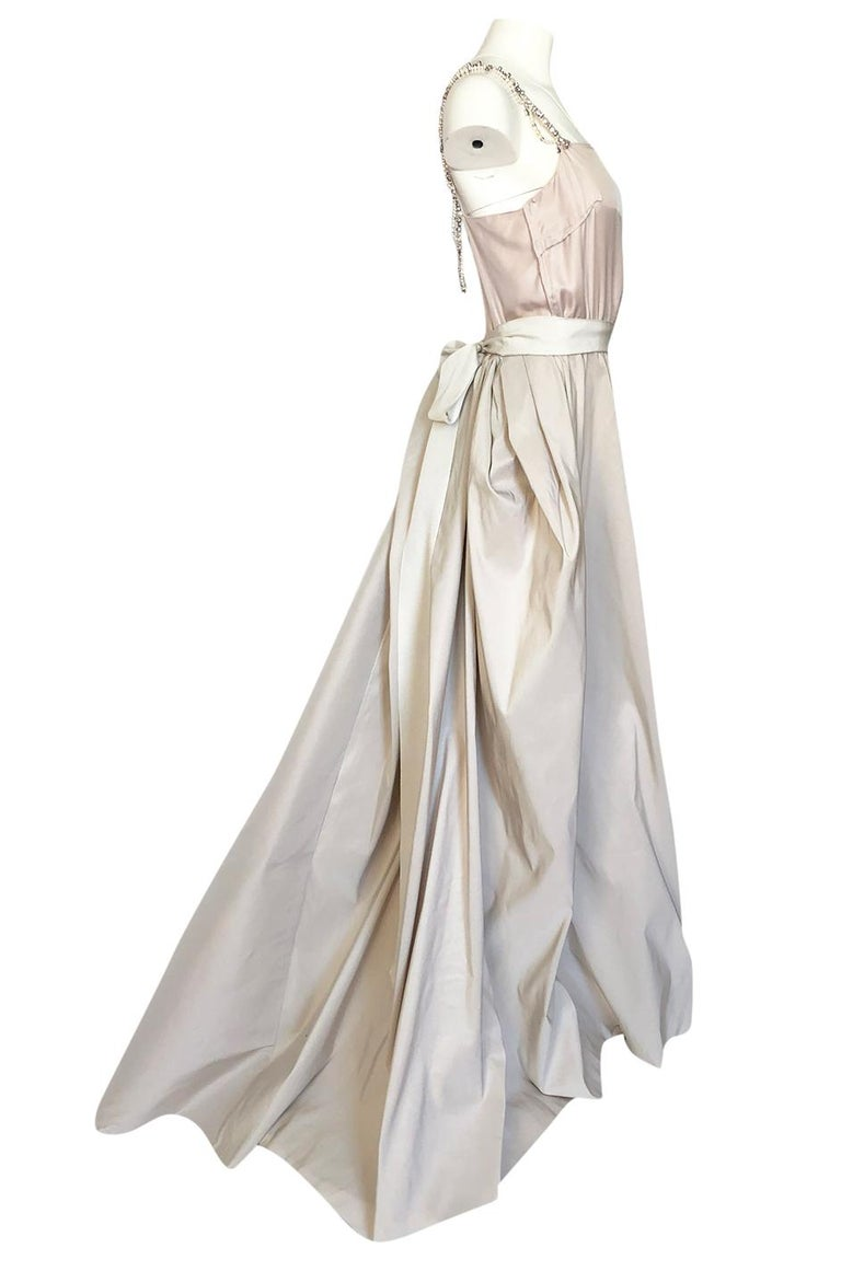 c.2012 Alber Elbaz for Lanvin Special Blanche Nude Blush Silk Wedding Gown In Good Condition For Sale In Rockwood, ON