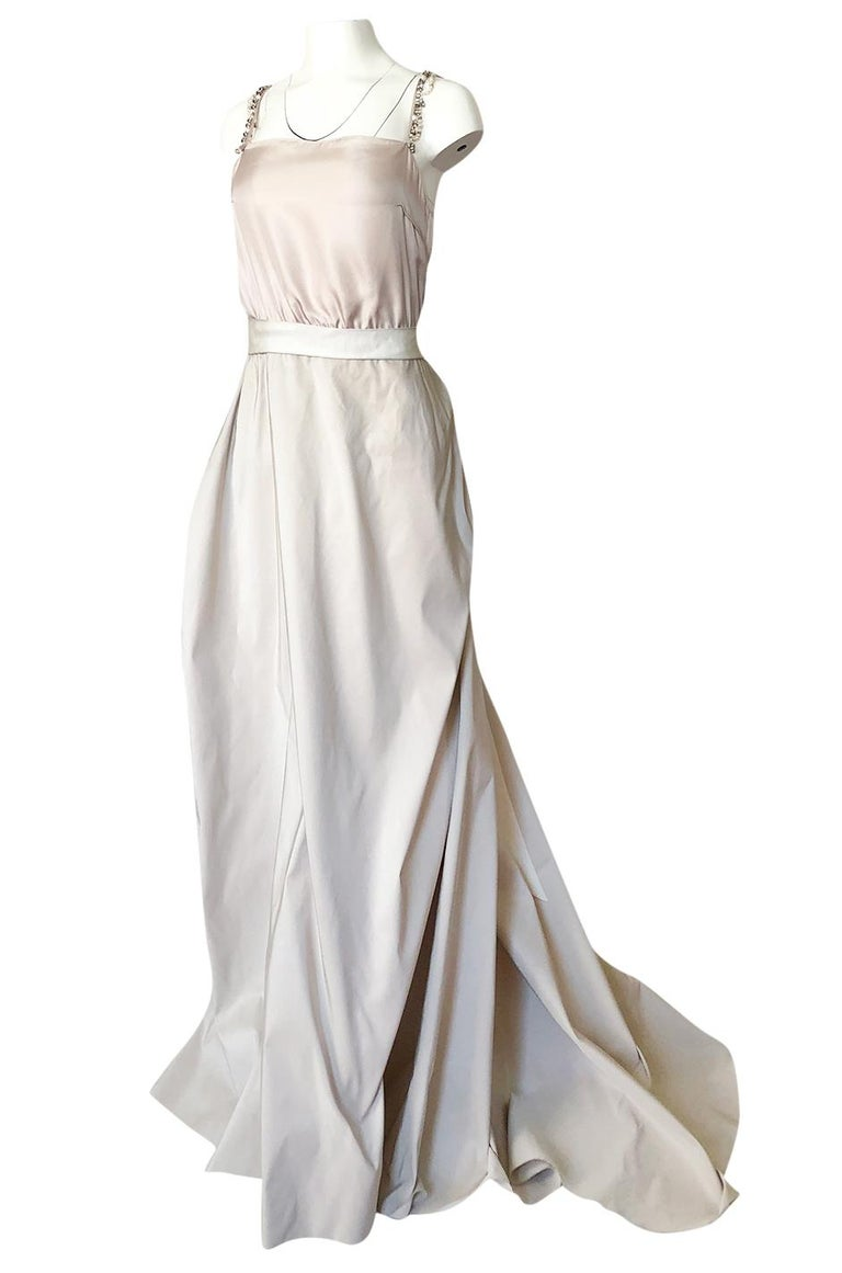 Women's c.2012 Alber Elbaz for Lanvin Special Blanche Nude Blush Silk Wedding Gown For Sale