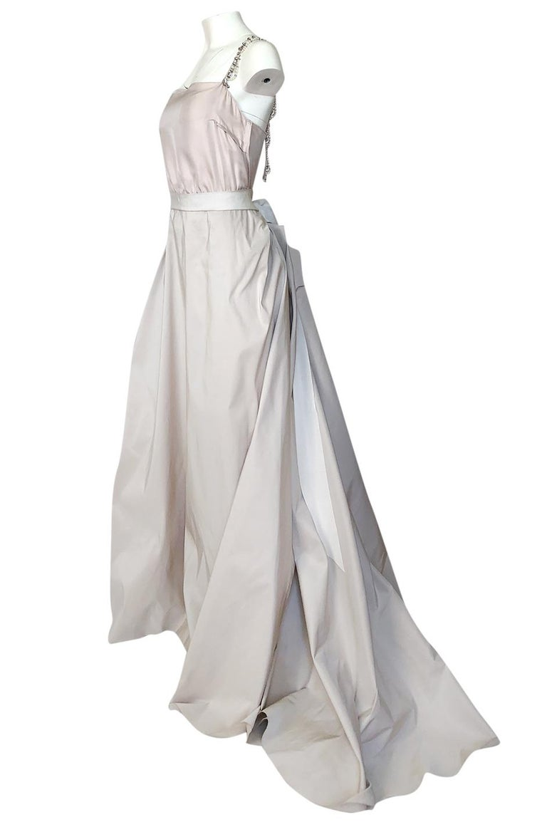 c.2012 Alber Elbaz for Lanvin Special Blanche Nude Blush Silk Wedding Gown For Sale 1
