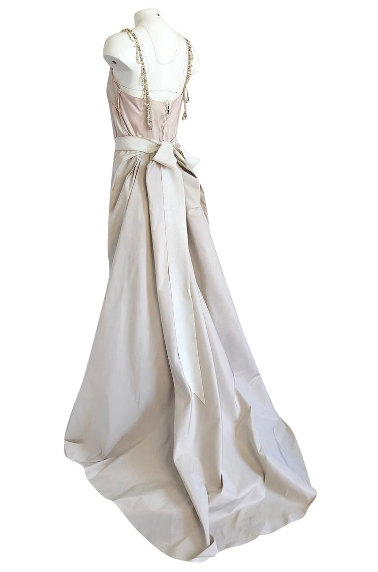 c.2012 Alber Elbaz for Lanvin Special Blanche Nude Blush Silk Wedding Gown For Sale 2