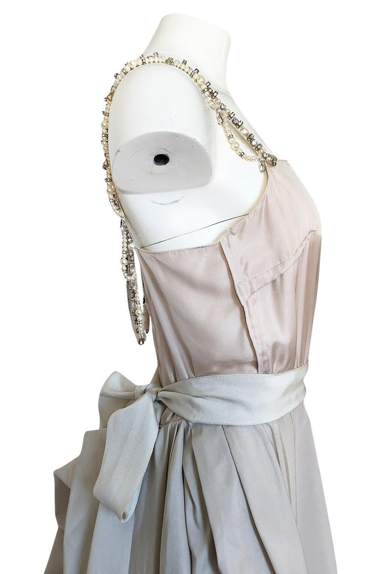 c.2012 Alber Elbaz for Lanvin Special Blanche Nude Blush Silk Wedding Gown For Sale 4