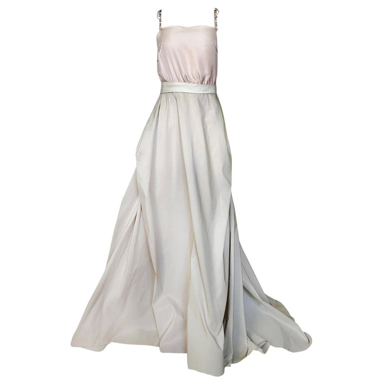 c.2012 Alber Elbaz for Lanvin Special Blanche Nude Blush Silk Wedding Gown For Sale