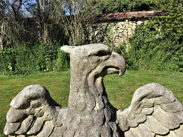20th Century Large Composition Stone Eagle In Good Condition For Sale In Moreton-in-Marsh, Gloucestershire