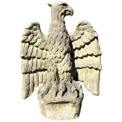 20th Century Large Composition Stone Eagle