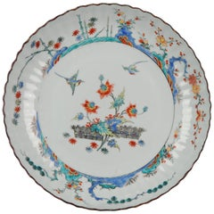 Kangxi Chinese Porcelain Kakiemon Plate Birds Dutch Decorated, circa 1720