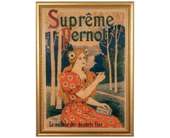 "French Color Lithograph Poster, ""Supreme Pernot"" by Artist E. Gex, circa 1900"
