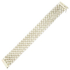 CA Canada Sterling Silver Wide Mesh Bracelet