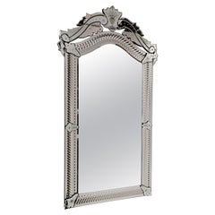 """""""CA' DARIO"""" Murano Glass Mirror, 800 French Style by Fratelli Tosi, Handcrafted"""