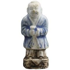 Ca Mau Chinese Porcelain Boy Holding Stem Cup Figure, circa 1725
