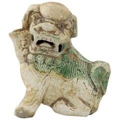 Ca Mau Shipwreck Chinese Pottery Fo Dog Joss Stick Holder, circa 1725