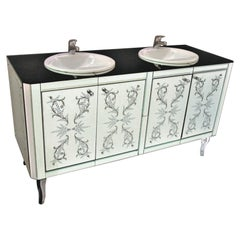 """""""CA' PESARO"""" Murano Glass Wash Cabinet by Fratelli Tosi Hand Crafted"""