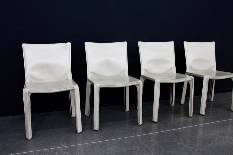 Mario Bellini, Cassina, ivory leather, CAB chair  very good condition.