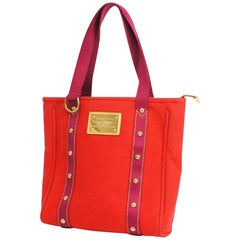 CabasMM  tote bag M40034  Rouge Leather