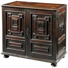 Cabinet, 17 Century, Dutch, Baroque, Oak, Teak Cabinet, Secret drawers