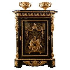 Cabinet 19th Century, Napoleon III Period, Style Boulle