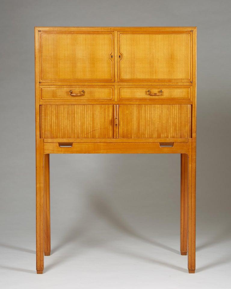 Swedish Cabinet Attributed to Hjalmar Jackson, Sweden, 1940s For Sale
