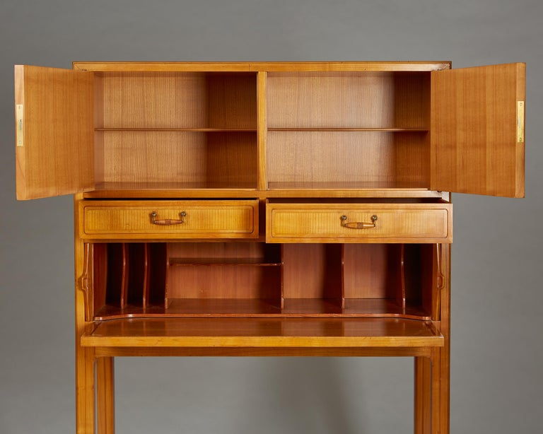 Brass Cabinet Attributed to Hjalmar Jackson, Sweden, 1940s For Sale