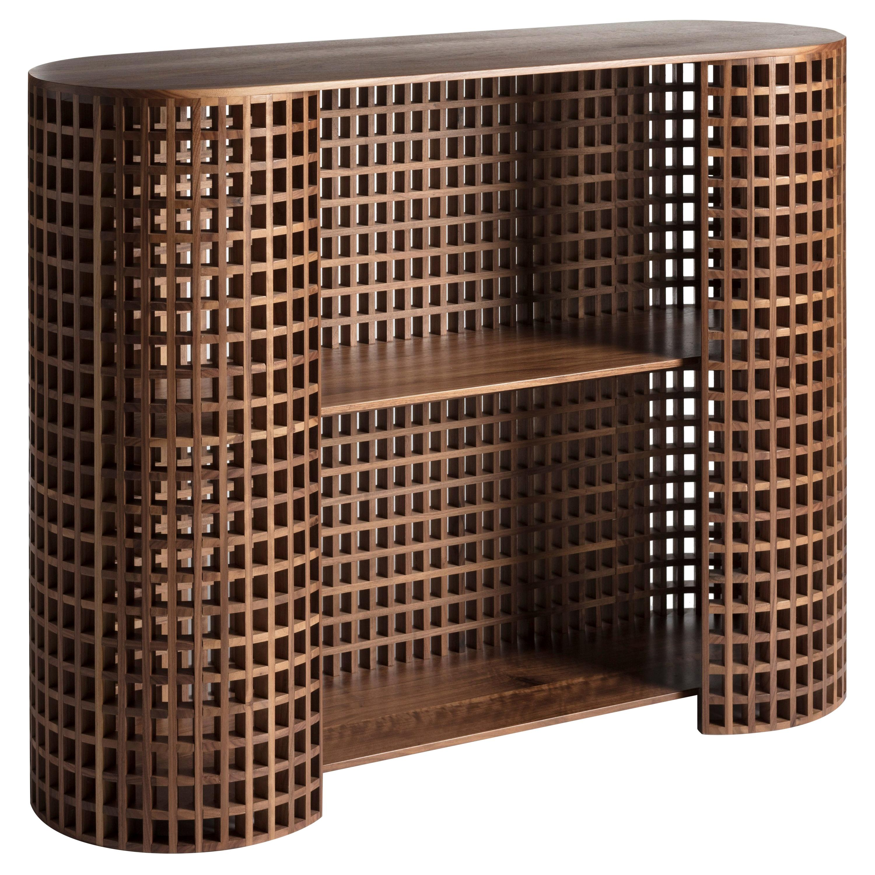 Contemporary and crafted cabinet, sideboards, living room furniture in walnut