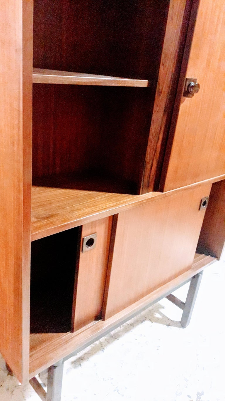 Wood Cabinet by Gianfranco Frattini from Mobili Cantu, Italy, 1960s For Sale