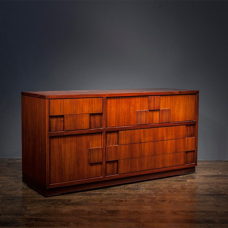 Cabinet by Ico Parisi, Italy 1960, in solid Rosewood, manufactured by Spartaco Brugnoli.