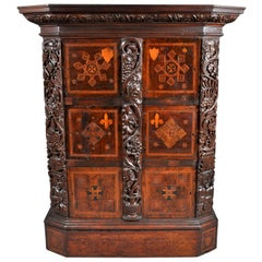 Antique Flemish / Dutch Walnut Marquetry Royal Manuscript Cabinet, circa 1680
