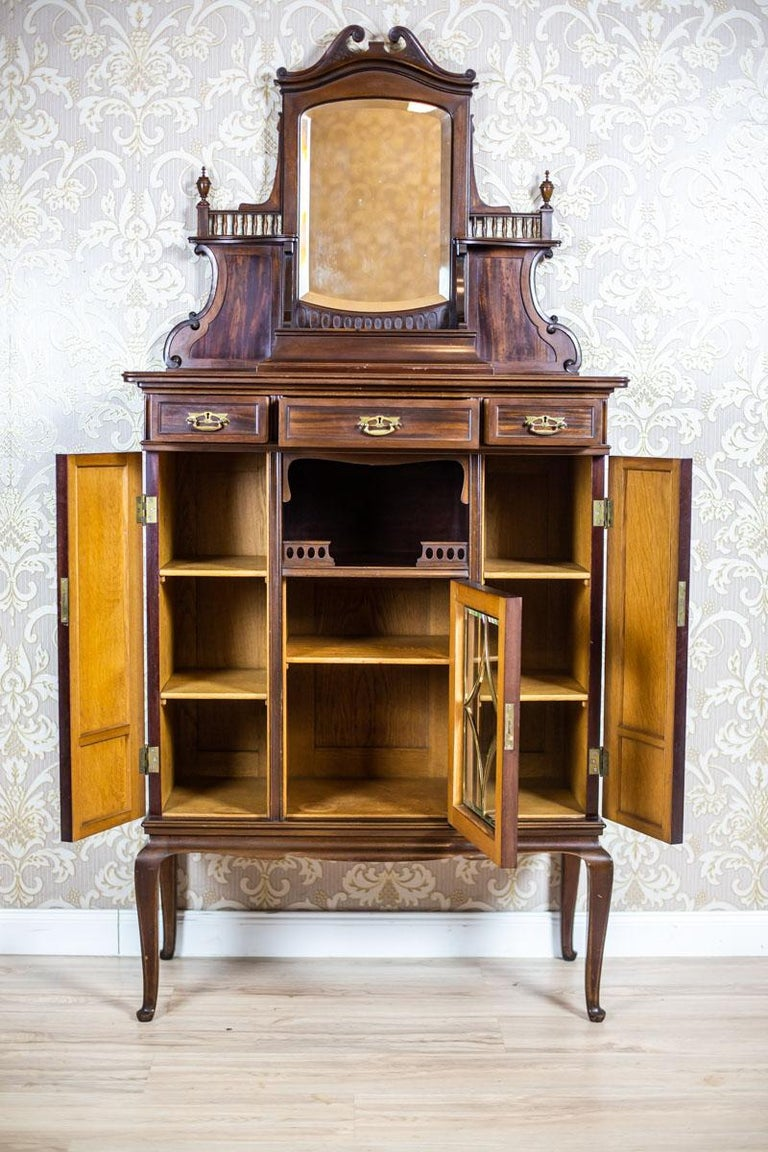 Mahogany Cabinet from the Turn of the 19th and 20th Centuries For Sale