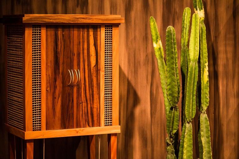 Modern Cabinet in Hardwood, Oratório Nordestino For Sale
