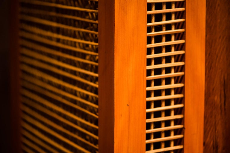 Clay Cabinet in Hardwood, Oratório Nordestino For Sale