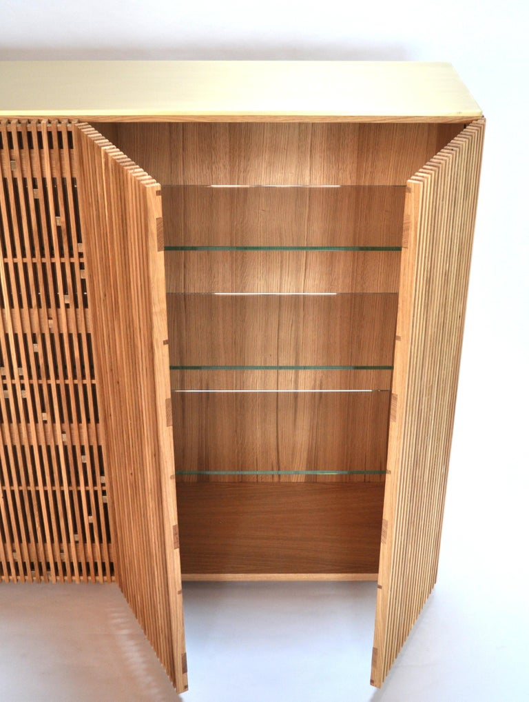 Brushed Cabinet Milione by Debonademeo for Medulum, Wood and Brass, Covered in Brass For Sale