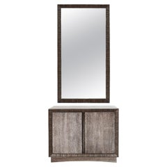 Cabinet Mirror Set by Paul Frankl in Limed Oak, circa 1950s
