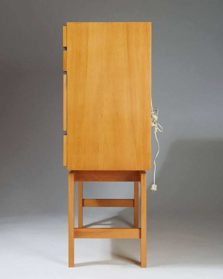 Mid-20th Century Cabinet on Stand, Anonymous, Sweden, 1950s For Sale