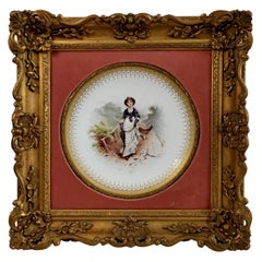 Cabinet Plate, Minton, Italianate Gilt Frame, Lady on Moor, A.Boullemier, 1882