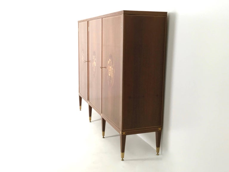 Italian Cabinet Produced by Marelli & Colico Ascribable to Paolo Buffa, Italy, 1950s For Sale