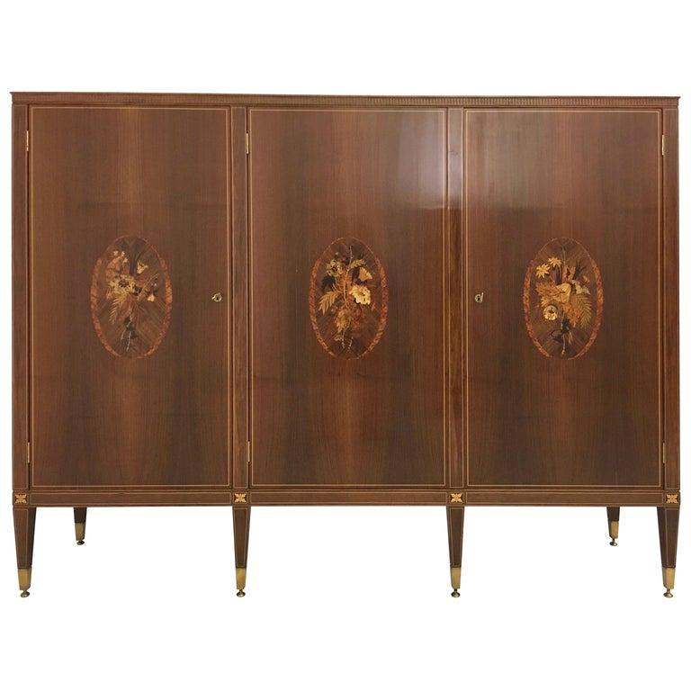 Cabinet Produced by Marelli & Colico Ascribable to Paolo Buffa, Italy, 1950s For Sale